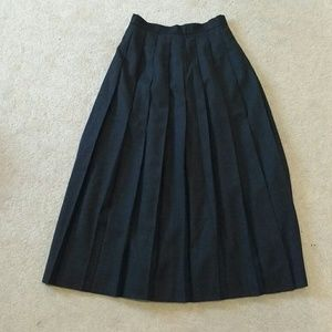 Wool pleated maxi skirt